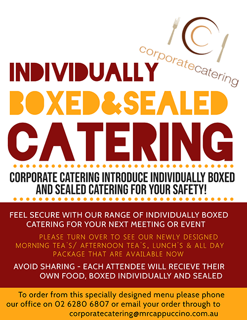 Individually Boxed Catering
