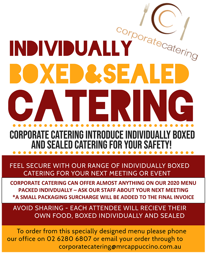 Indinidually Boxed and Sealed Catering